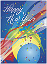 New Year Balloons Greeting Card 8560U-A