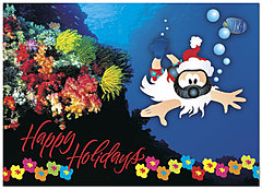 Scuba Santa Holiday Card 8564D-A