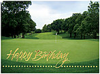 On the Green Birthday Card 917U-X
