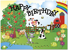 Hidden Picture Farm Birthday Card 923U-Y