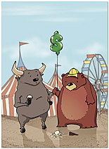 Bull & Bear Birthday Card 926U-Y