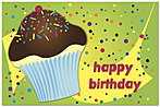 Cupcake Birthday Postcard 936P-Z