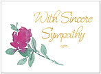 Floral Sympathy Greeting Card 939U-X