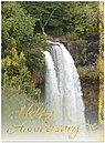 Anniversary Waterfall Greeting Card 941U-X