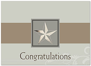 Star Congratulations Greeting Card 950D-X