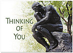 The Thinker Greeting Card 956D-Y
