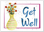 Get Well Vase Greeting Card 963D-Y