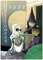 Trick or Treat Greeting Card 965D-Y