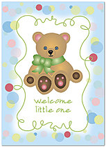 Welcome Little One Greeting Card 968D-Y