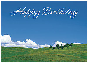 Blue Sky Birthday Greeting Card 982KW-X