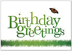Backyard Birthday Greeting Card 984KW-X