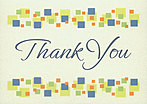 Thank You Squares Greeting Card 987KW-X
