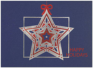 Exquisite Star Holiday Card 9533S-4A