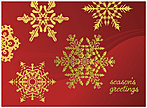 Snowflakes Holiday Card 9538G-AAA
