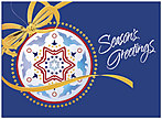 Patriotic Greetings Holiday Card 9540G-AAA