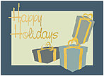 Holiday Packages Greeting Card 9554U-AA