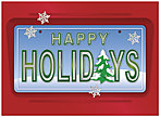 Holiday License Plate Greeting Card 9556U-AA