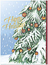 Decorated Pine Holiday Card 9558U-AA