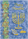 Happy Hanukkah Greeting Card 9561U-AA