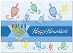 Hanukkah Greetings Holiday Card 9569D-A