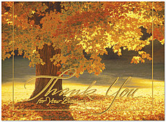 Radiant Thank You Thanksgiving Card 9520U-AA