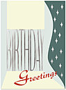 Retro Greetings Birthday Card X15U-X