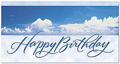 Clouds Birthday Card X33T-Z