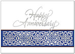 Anniversary Border Greeting Card X43D-X