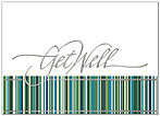 Get Well Stripes Greeting Card X46D-X