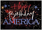 Happy Birthday America Holiday Card X48D-X