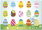 Bunny's Eggs Easter Card X51D-Y