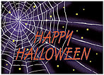 Spider Web Halloween Card X52D-Y