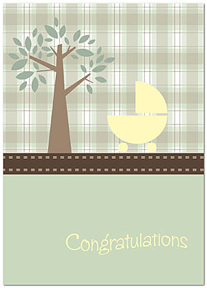 Baby Stroller Greeting Card X55D-Y