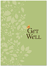 Green Get Well Greeting Card X66KW-X