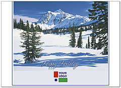 Snow Scene Logo Card DX00U-4B