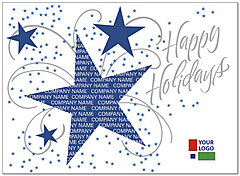 Holiday Stars Custom Logo Card DX02U-4B