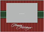 Holiday Stripes Photo Card DX95U-4B