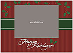 Stripes and Holly Photo Card DX96U-4B