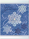 Season's Snowflakes Holiday Card X547S-4A