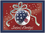 Patriotic Ornament Holiday Card X549S-AAA