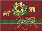 Wall Street Wreath Holiday Card X561U-AA