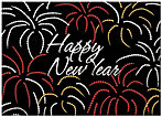 Festive New Year Greeting Card X573D-AA