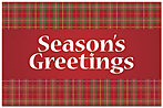 Seasonal Plaid Postcard X588P-B