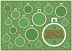 Green Ornaments Holiday Card X589KW-AA