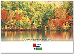 Autumn Reflections Logo Card DX42U-4B