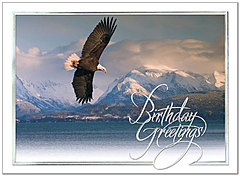 Soaring Eagle Birthday Card 108S-W