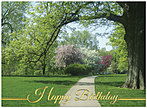 Stroll in the Park Birthday Card 113U-X