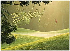 Early Morning Tee Birthday Card 120U-X