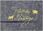 Formal Wall Street Birthday Card 124U-X
