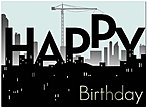 Birthday Construction Greeting Card 125U-X